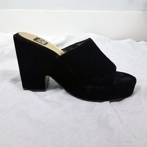 Black Velvet Open Toe Espadrille Sandals Shoes